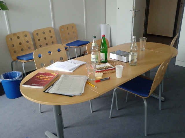 A classroom at a German language school. Photo by Kristi Fuoco.